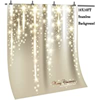 OUYIDA 10X10FT Seamless Christmas Theme CP Pictorial Cloth Photography Background Computer-Printed Vinyl Backdrop TN26A