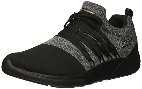 (Skechers BOBS Women's Bobs Sparrow-Moon Jumper. Alternative lace Microperf and Jersey Sneaker, Black 7 M US)