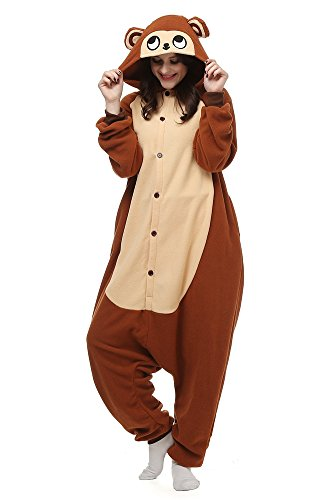 Laidisi Novelty Costumes Pyjamas Unisex Adult One-Pieces Cosplay Jumpsuit Monkey M (Women Monkey Costume)