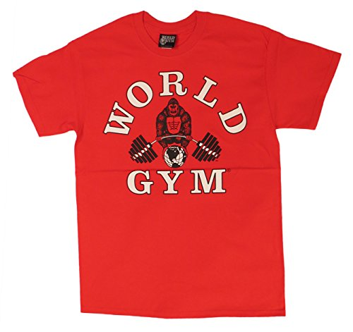 Gym World Con Motivo BodybuildingRed W101Magliette mN80wvn