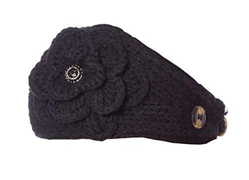 Arctic Alyssum Knit Headband, Black