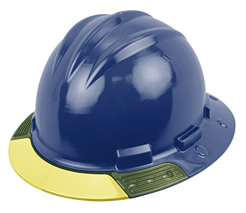 Bullard AVNBRY  Above View Hard Hat,  Navy Blue, Cotton Brow Pad, Ratchet Suspension, Yellow Visor, One Size