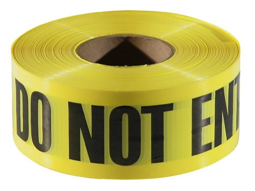 Empire Level 77-1006 Barricade CAUTION DO NOT ENTER Tape, Yellow with Black Ink, 1000-Feet by 3-Inch