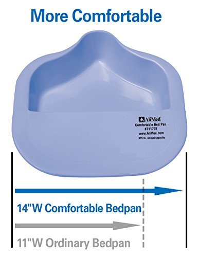 Bariatric BedPan: Professionally Recommended and Easier to Use. Anti-spill, Comfort Bedpan