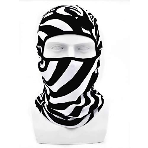 Ease2U Balaclava Face Mask, 3D Animal Funny, Zebra mask, Cycling Motorcycle Snowboarding Music Festivals Skiing ()