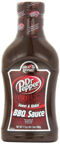 Dr. Pepper Sweet & Kickin' Barbecue Sauce, 17.5 Ounce Bottle (Pack of 6)