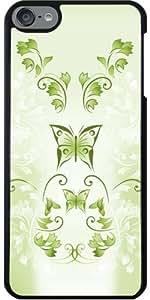 Funda para Ipod Touch 6 - Mariposas Verdes Floral by Nina Baydur