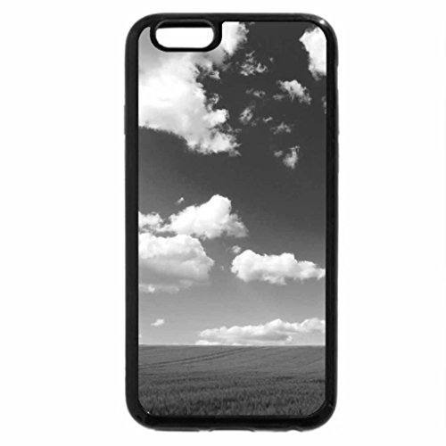 iPhone 6S Plus Case, iPhone 6 Plus Case (Black & White) - Field to Nowhere