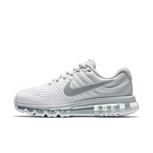 Nike Air Max 2017 84950-009 Pure Platinum/Wolf Grey-White Women's US 8 (Womens Nike Air Max 2014 Running Shoes)