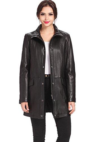 - BGSD Women's Rachel New Zealand Lambskin Leather Coat - XL