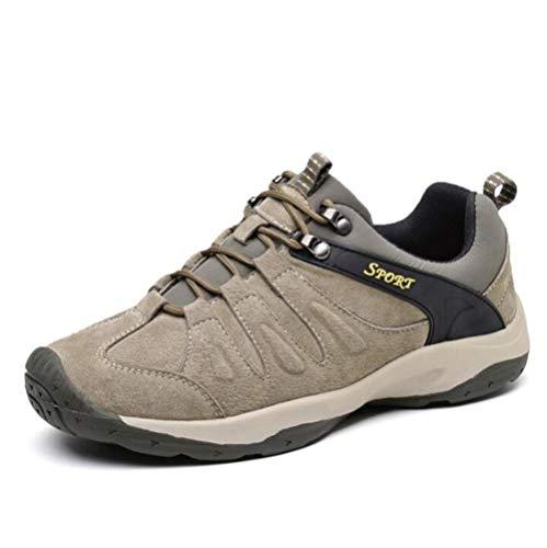 43 Entrenadores Hombre Piel Deportes Tamaño 38 Khaki Excursionismo eu43 Pescar Zapatos A Eu43 Al Aire Genuina Cámping Swnx Libre De aEwB7SWqx