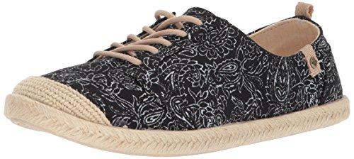 Roxy Womens Flora Lace up Slip On Shoe Sneaker Black lviDlxv