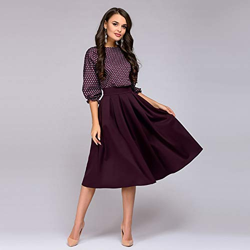 OCEAN-STORE Dresses for Wedding Guest Women 3/4 Sleeve Print Dress Ladies Casual Dresses for Women Party Dress Blue at Amazon Womens Clothing store: