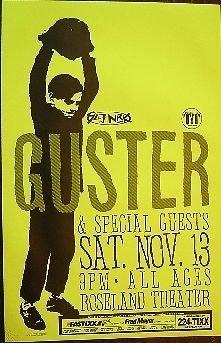 Guster Rare Original Roseland Theater Portland Oregon Concert Gig Poster from ConcertPosterArt