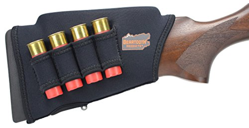 Beartooth Comb Raising Kit 2.0 - Neoprene Gun Stock Sleeve + (5) Hi-density Foam Inserts - SHOTGUN MODEL (Black)