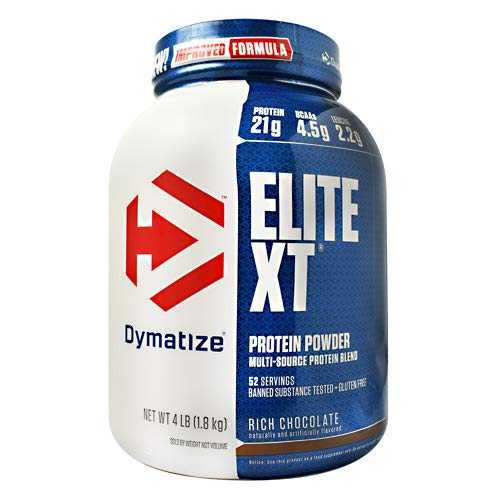 Dymatize Elite XT Extended Release Whey & Casein Protein, Rich Chocolate, 4 Pound