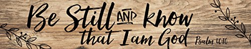 Be Still and Know I am God 36 x 7 Inch Classic Pine Wood Pallet Wall Plaque (God Wall Plaque)