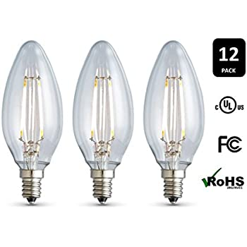 12 Pack Archipelago Dimmable Led Filament Candelabra B10