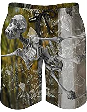 Mens Swim Trunks Wolf Eyes Pattern Customed Quick Dry Swim Shorts with Mesh Lining for Mens Teens