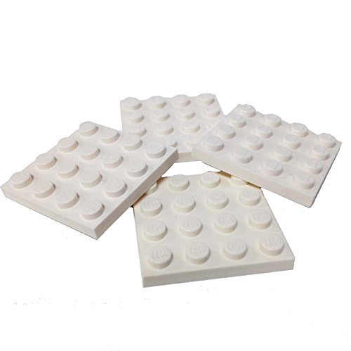 Lego Parts: Plate 4 x 4 (PACK of 4 - White)