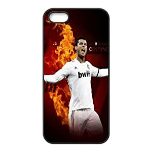 Sport Real Madrid Club de Futbol Cristiano Ronaldo Print Black Case With Hard Shell Cover Protective Case 235 For Apple Iphone 5 5S Cases At ERZHOU Tech Store