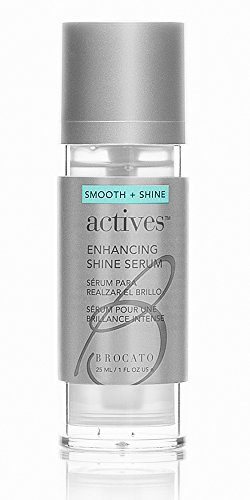 Brocato Shine Drops Smoothing Serum: Liquid Smoother and Shine Enhancer for Dry, Damaged Hair and Skin - Anti Frizz Control and Radiant Gloss Amplifier Serums with Organic Jojoba Oil - 1.0 Oz