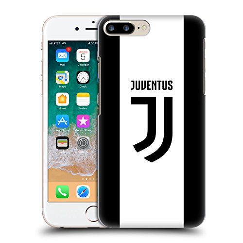 Official Juventus Football Club Home 2017/18 Race Kit Hard Back Case Compatible for iPhone 7 Plus/iPhone 8 Plus