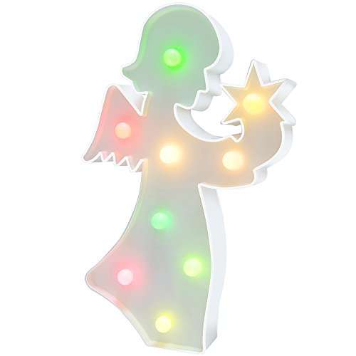 Angels Shelf - Angel Light Angel Party Supplies Kids Angel Colorful Angel Lamp Battery Operated Angel Table Decorations for Wall Decoration,Kids' Room,Living Room,Bedroom (Colorful Angel)