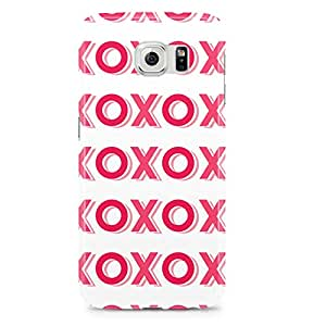 Samsung S6 Edge Case Cute Heart Pattern For Valentines Day And Loved Ones, Great For Girls-Sleek Finish Durable Wrap Around Phone Cover 136