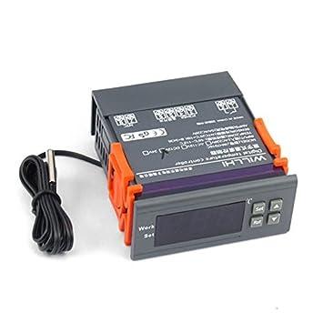 LtrottedJ110V - Termostato digital con sensor de temperatura, 10 A