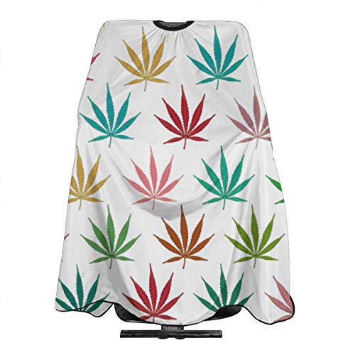Maple Leaf Puzzle Classic Barber Cape Haircut Apron Professional Lightwight ()