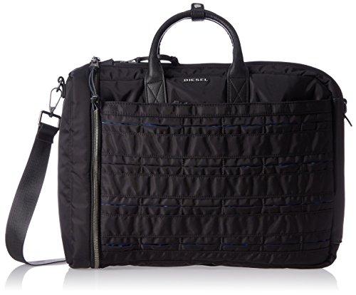 Diesel Men's 24/7 Briefcase, Black/Blue (Diesel Collection)