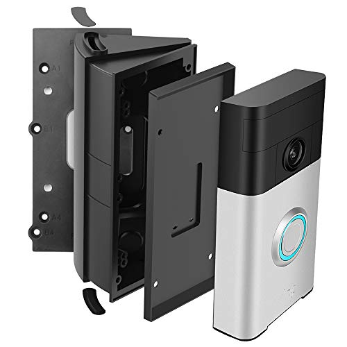 Adjustable (30 to 55 Degree) Angle Mount Compatible with Ring Wi-Fi Enable Doorbell/Ring Video Doorbell 1st 2nd, WFEXD Replacement Angle Adjustment Mounting Plate Bracket Doorbell Wedge Kit
