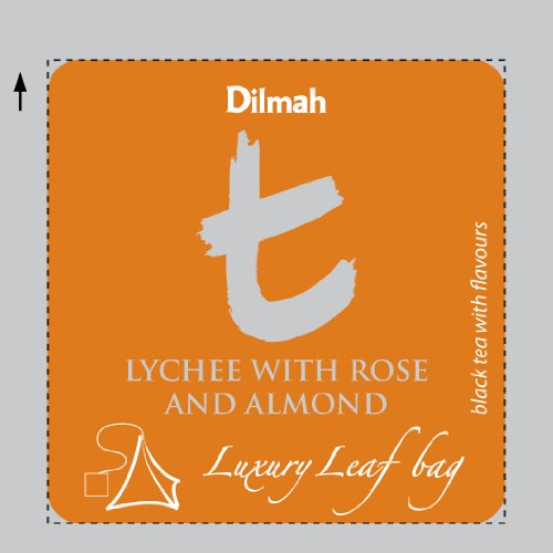 Dilmah | Lychee with Rose & Almond | T-series Biodegradable Luxury leaf Sachets | Food Service Pack | 15% More Tea than Retail Pack | (Pack of 100)