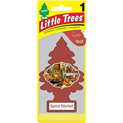 LITTLE TREES Car Air Freshener | Hanging Paper Tree for Home or Car | Spice Market | Pack of 12: Automotive