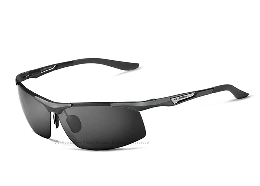 Aluminum Magnesium Mens Sunglasses Polarized Men Coating Mirror Glasses Male For Men Gray