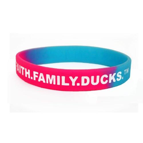 Duck Commander Silicone Bracelet Faith Family Eenden Paars Roze Turkoois