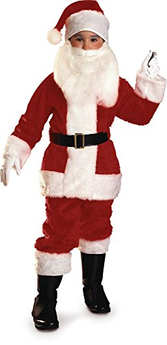Child Santa Claus Costumes (Rubies Plush Child Santa Suit Costume, Medium)