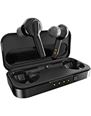 Bluetooth Kopfhörer in Ear, MIFA Wireless Earbuds Sport Noise Cancelling Headphone Bluetooth 5.0 Earphones TWS mit Mikrofon Wireless Headset Kabellos für iPhone Samsung Huawei usw, Schwarz