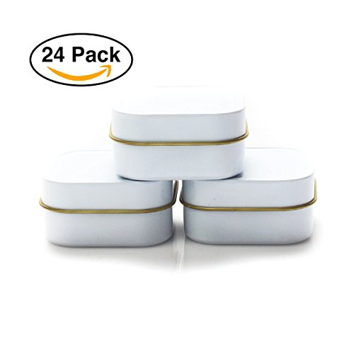 Mimi Pack 2oz Empty Square Cube Favor Tin Containers 24 Pack ( - Gold Tins Favor