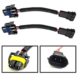 41VTrecXjhL._SX300_ amazon com ijdmtoy (2) h11 h8 h9 extension wiring harness sockets h9 wiring harness at panicattacktreatment.co