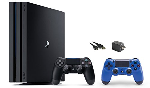 PlayStation-4-Pro-Console-3-items-BundlePS4-Pro-1TB-ConsoleExtra-PS4-Dualshock-4-Wireless-Controller-Wave-Blue-with-Mytrix-Wall-Charger