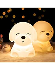 Night Lights for Kids, Mubarek Nightlights for Children,Cute Animals Nursery Soft Silicone Toddler Lamp for Girls/Baby, Portable Travel Rechargeable Color Changing Child Light, Birthday Gifts