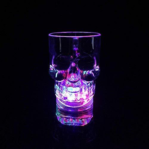 Fun Central AD008, 1 Pc, 14oz Multicolor LED Skull Mug, LED Light Up Glasses for Kids, LED Skull Cups, LED Skull Mugs, LED Drinking Glasses