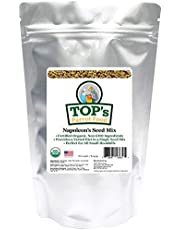 TOP's Napoleon's Seed Mix for All Small Hookbills, Non-GMO, Soy Free, Corn Free, USDA Organic Certified, 1 lb