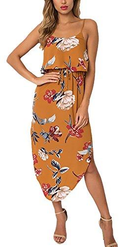 6d84a987a095 Asimmetrico Lunghi Abbigliamento Lungo Backless Donna Abiti Stampa Estivi  Cerimonia Sling Vintage Moda Spiaggia Vestito Eleganti ...