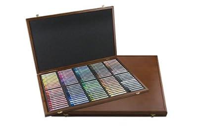 Mungyo Gallery Semi-Hard Pastels Wood Box Set of 96 - Assorted Colors