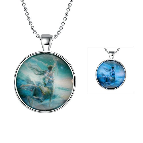 Aokarry Women Pendant Necklace Chain for Holloween Party Sagittarius]()