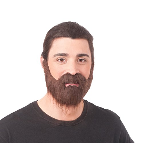 Forum Novelties Full Brown Beard with Moustache One Size by Forum Novelties