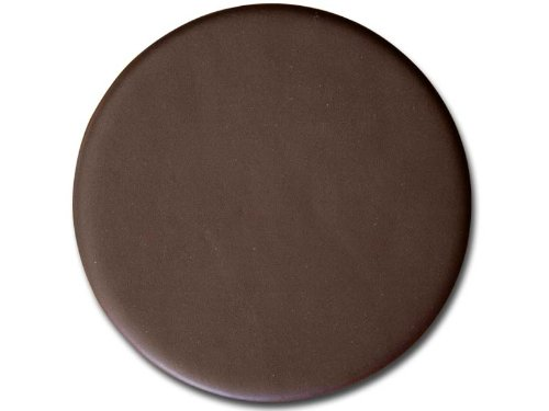 Dacasso Chocolate Brown Leather Round Coaster